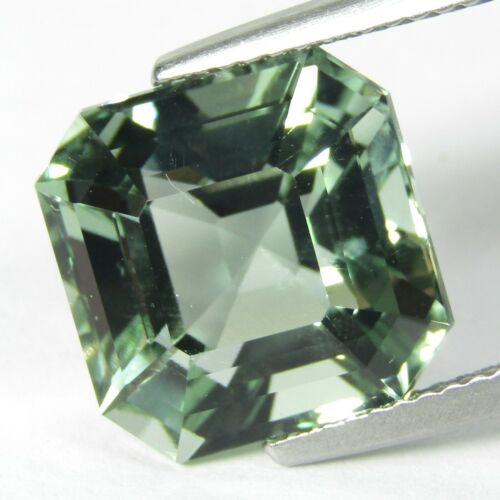 8.35Cts Hi-Look Natural Green Amethyst prasiolite Assheir Cut Loose Gem REF VDO