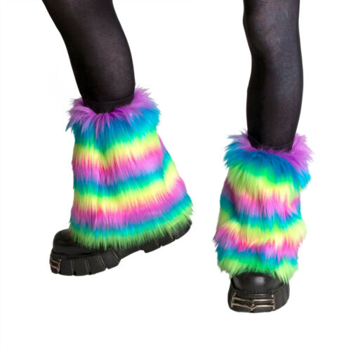 PAWSTAR Pony Puff Leg Warmer furry rave dance fluffies music neon [NRAIN]2593