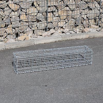 Gabione 100x20x20 cm Steingabionen Steinkorb Gabionen Wand Drahtkorb Mauer 5x10