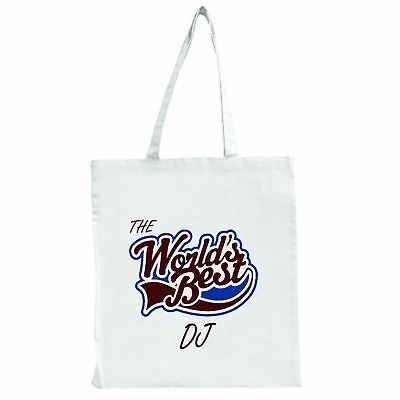 The Worlds Best Dj - Large Tote Shopping