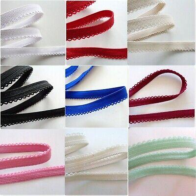 2 m Gummiband,Gummispitze,Wäschegummi,12 mm,beige,rot, weiß,rosa,schwarz,blau - Rot Weiß Gummi