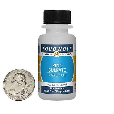 Zinc Sulfate 1 Ounce Bottle 99.3 Pure Reagent Grade Fine Powder Usa