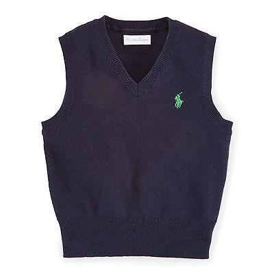 BNWT Ralph Lauren Polo baby boy Cotton V-Neck Sweater  Sleeveles 24M RRP £60