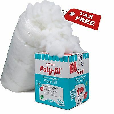 10 Pound Poly Fil Premium Polyester Fiber White Bag Pillow Stuffing Band New