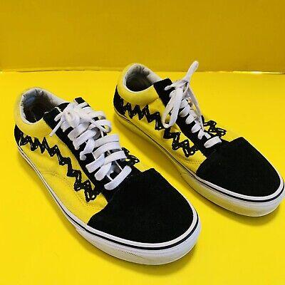 Vans x Peanuts Old Skool Charlie Brown Size 10.5 Preowned