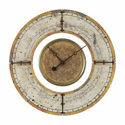 Vintage Style Retro Round Wall Clock | Gold Ivory Brass Scroll Antique Look