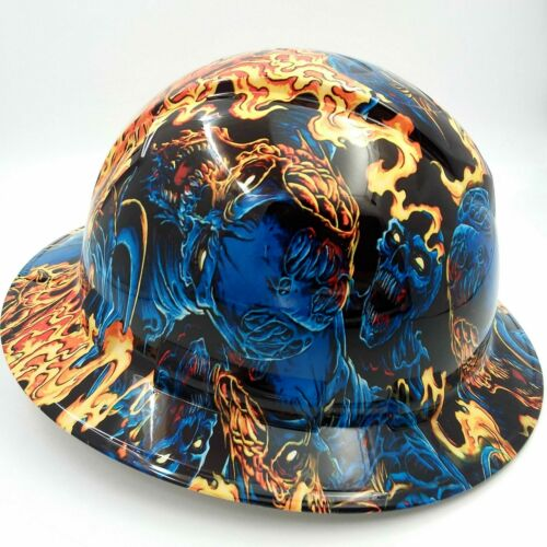 Hard Hat FULL BRIM custom hydro dipped , OSHA approved ICE SKULL BATTLE ROYAL 2