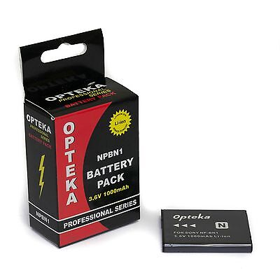 Opteka NP-BN1 1000mAh High Capacity Li-ion Battery Pack for Sony Cybershot