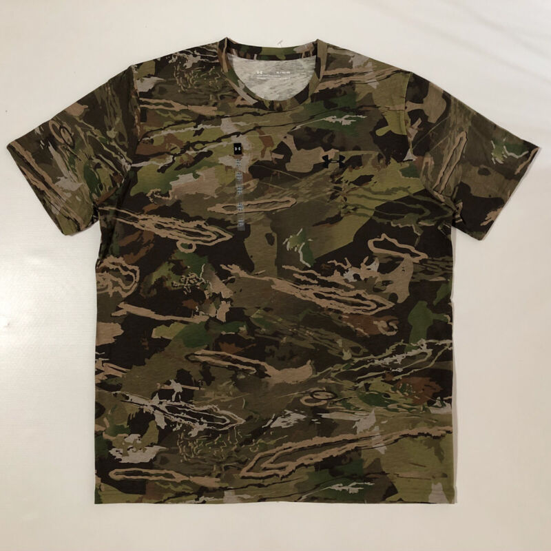 Under Armour Scent Control Forest CamouflageSS Shirt Realtree Edge 1343240 Sz XL