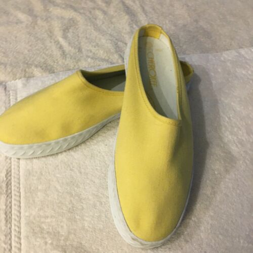 Cherokee yellow slip on tennis shoes, size 7.5