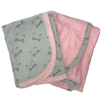 New Baby Soft Flannel Receiving Blankets Handmade 36 x 36 Sets of 2