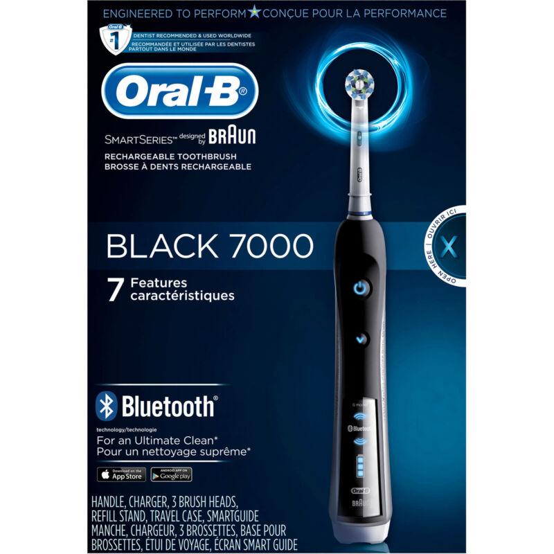 Oral-B Pro 7000 SmartSeries Black Electric Toothbrush Powered by Braun