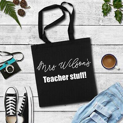 Personalised Teacher Present, Gift for Teacher, fun teacher stuff tote bag - Teacher Stuff