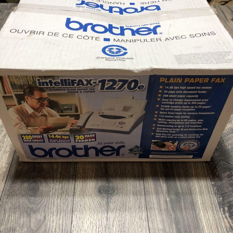 Brother IntelliFAX-1270e Plain Paper Fax Phone & Copier New in Box