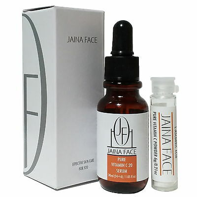 Pure Vitamin C 20% Serum Hyaluronic Acid 70% Anti Wrinkle Acne Scar Whitening