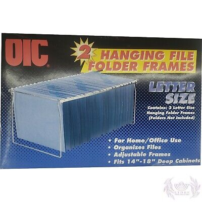Nib Officemate Hanging File Frame Letter Size Adjustable 14 To 18-inches 2 Pack