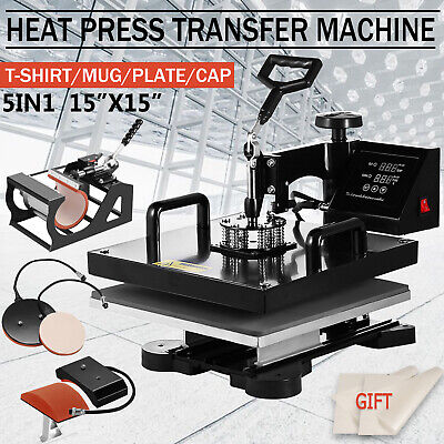 15x15 High Pressure Heat Press Machine Sublimation Transfer Printing Lcd Timer