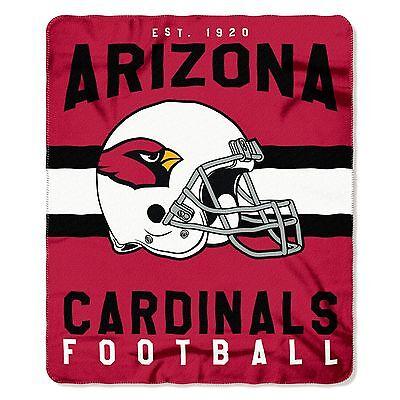 NFL Arizona Cardinals Singular Design Large Soft Fleece Throw Blanket 50