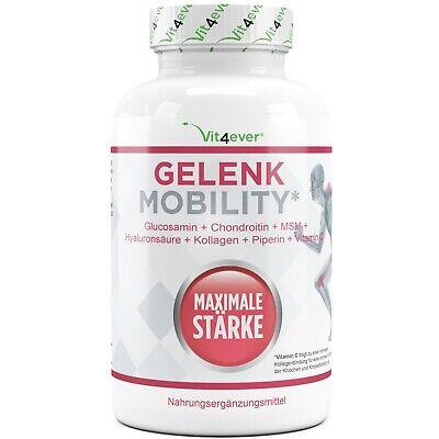 Gelenk Mobility 120 Tabletten - Glucosamin Chondroitin MSM Collagen Piperin