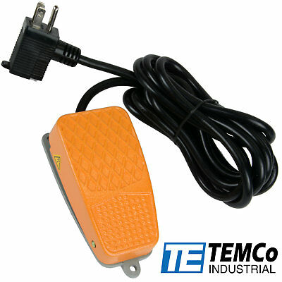Temco Foot Switch Aluminum 10a Spdt No Electric Power Pedal Momentary 10ft Plug