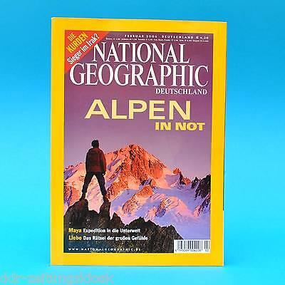 National Geographic Februar 2006 Alpen Kurden Braunbären Maya Liebe Kalifornien