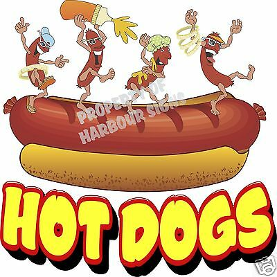 Hot Dogs Decal 24 Hotdog Concession Food Truck Cart Vinyl Menu Sticker