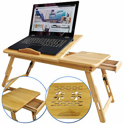 Laptoptisch Compact Bambus Betttisch Notebooktisch Betttablett Zeichentisch gebraucht kaufen  Kruft