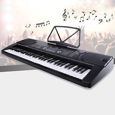 61 Key Electronic Keyboard Electric Organ Digital Music Piano w/Microphone Black