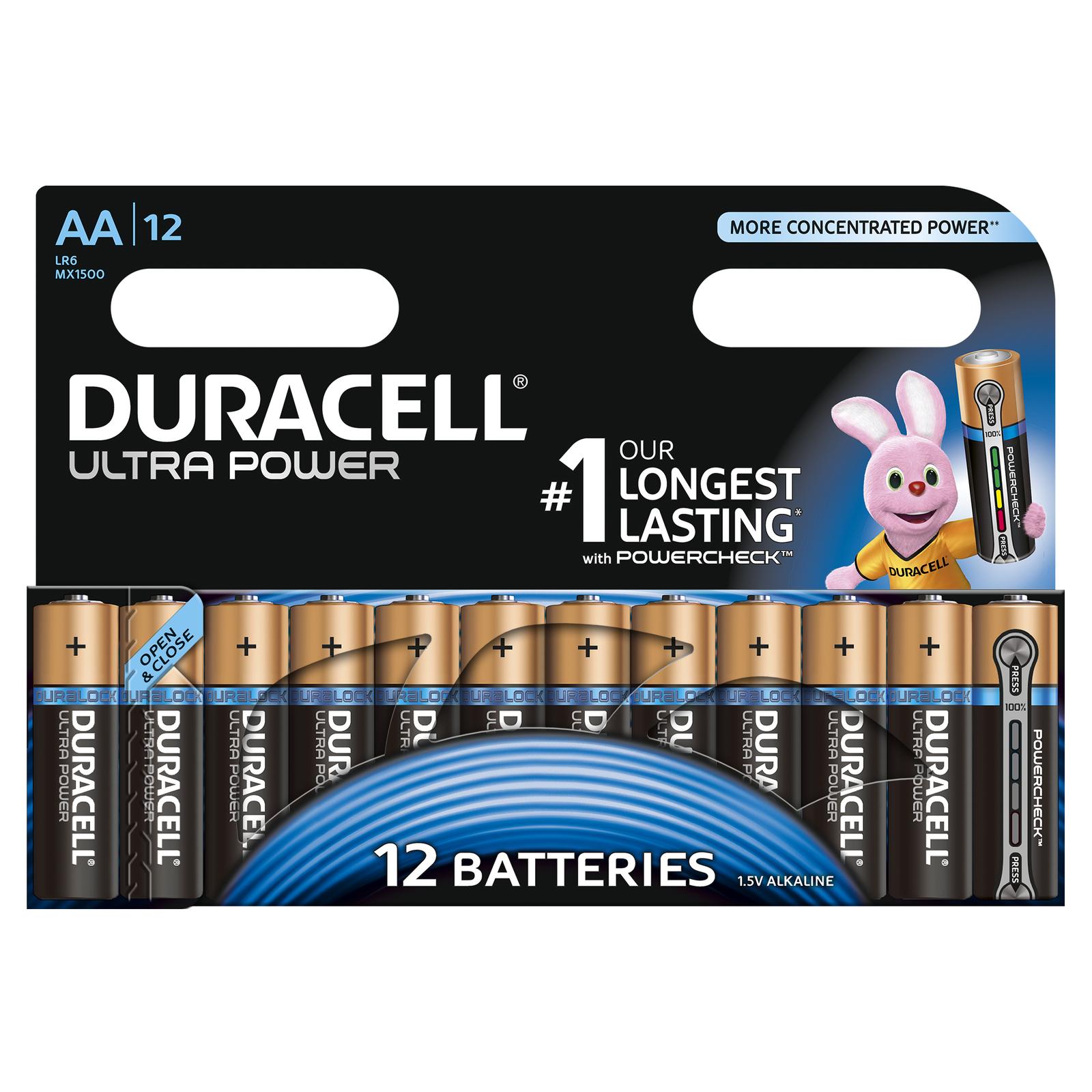 48x Duracell Ultra Power  AA LR06 MN1500 Mignon 1,5 V Stilo R6 AM3 E91 4x 1