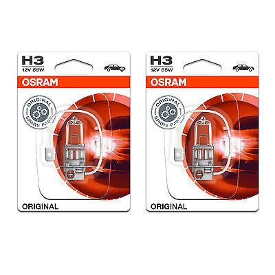 H3 Osram Original Fog Light Bulbs Front Spot Lamps Genuine