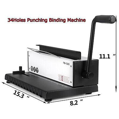 Intbuying 34holes Punching Binding Machine Binder Puncher All Steel Metal Wire