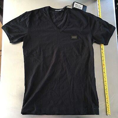 Dolce Gabbana Mens Black T Shirt Size 46