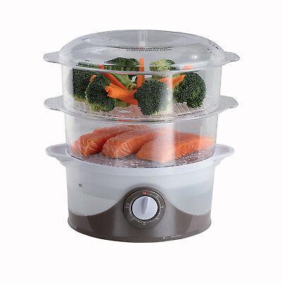 Cocedor electrico para cocer al vapor arroz y alimentos verduras pescado 6L...
