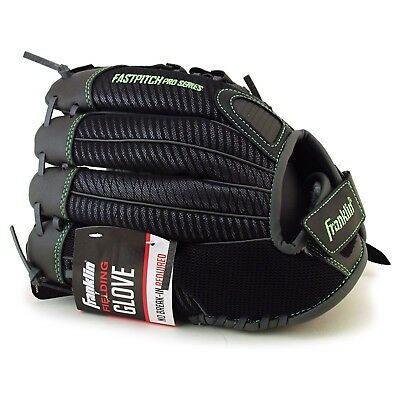 11 Inch Synthetic Fastpitch Softball (Franklin Youth Softball Fielding Glove 11 inch FastPitch Pro Charcoal Green NEW )