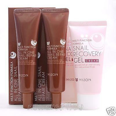 [MIZON] All In One Snail Repair Cream 35ml x 2ea + Snail Recovery Gel Cream 45ml