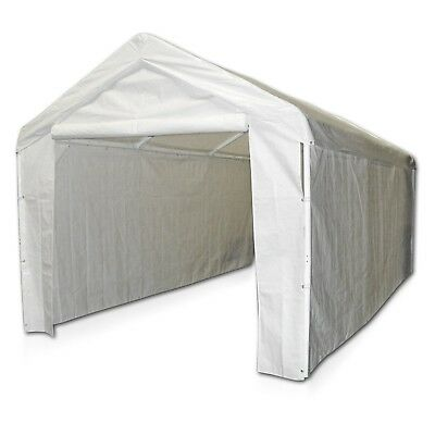 Canopy Garage Side Wall Kit 10x20 Car Shelter Big Tent Parking Carport (10 X 20 Car Canopy)