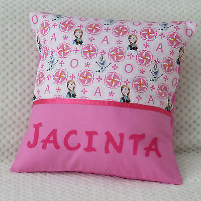 FROZEN (Anna) Child's/Girls Personalised Character Cushion Cover / GIFT IDEA