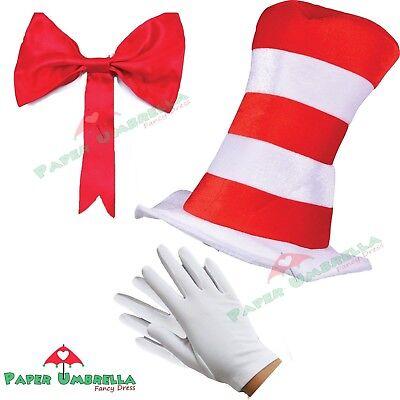 KATZE IM HUT kostüm Kinder Jungen Mädchen Büchertag Woche Dr Seuss Kostüm