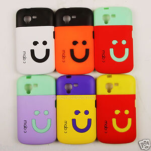 PREMIUM RUBBERIZED SMILEY HARD BACK CASE COVER FOR MICROMAX BOLT A34 Cases   Covers available at Ebay for Rs.35