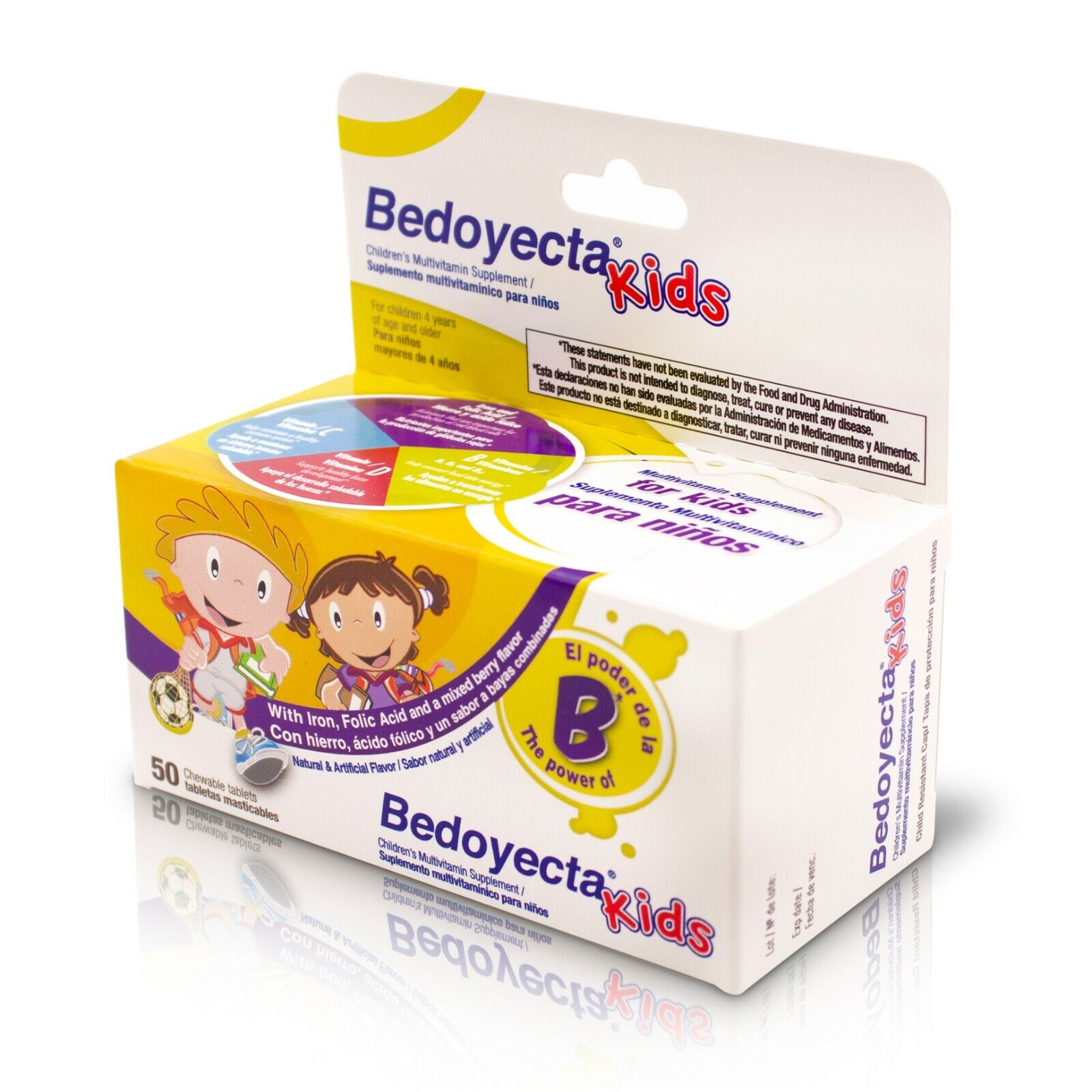 BEDOYECTA KIDS 50 TAB CHEWABLES / BEDOYECTA KIDS 50 TAB MASTICABLES