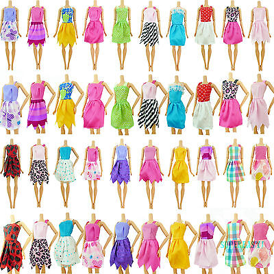 Fashion 12pcs Summer Mini Dress Daily Outfit Random Clothes For 12 in. Doll Gift
