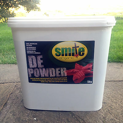 SMITE ORGANIC RED MITE LICE LOUSE POWDER Diatomaceous Earth Powder 5kg tub
