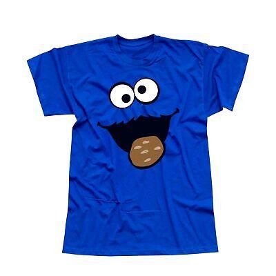 T-Shirt Krümelmonster Kekse Karneval Fasching Sesamstraße Kinder Herren 116-5XL