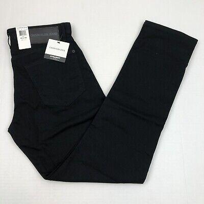 Calvin Klein Men's Jeans Straight Fit Twill Stretch Cotton Black