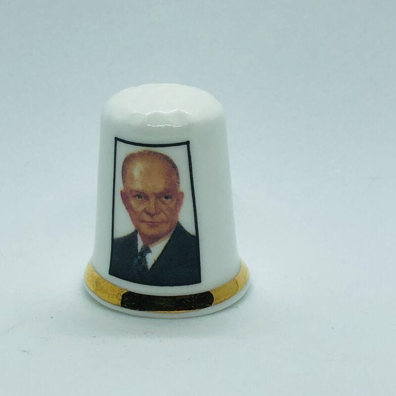 Finsbury Fine England Bone China Thimble - President Dwight D Eisenhower