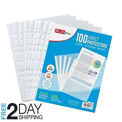 100 Sheet Protectors Holds 8.5 X 11 Inch Sheets