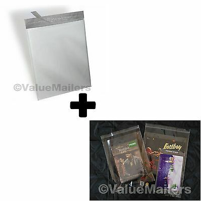 200 Bags 100 10x13 Poly Mailers Envelopes Self Sealing Plastic 100 9x12 Clear 100 Self Sealing Bags