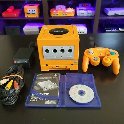 Nintendo Spice Orange Gamecube, Region Switch, Gameboy Player and Disk