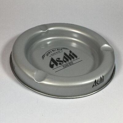 Asahi Japanese No.1 Beer Metal Ashtray Collectible