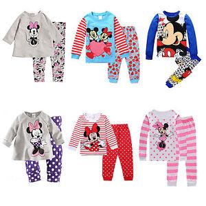 Infantil-Ninas-Mickey-Minnie-Raton-Pijama-Trajes-Pijama-age1-8-anos